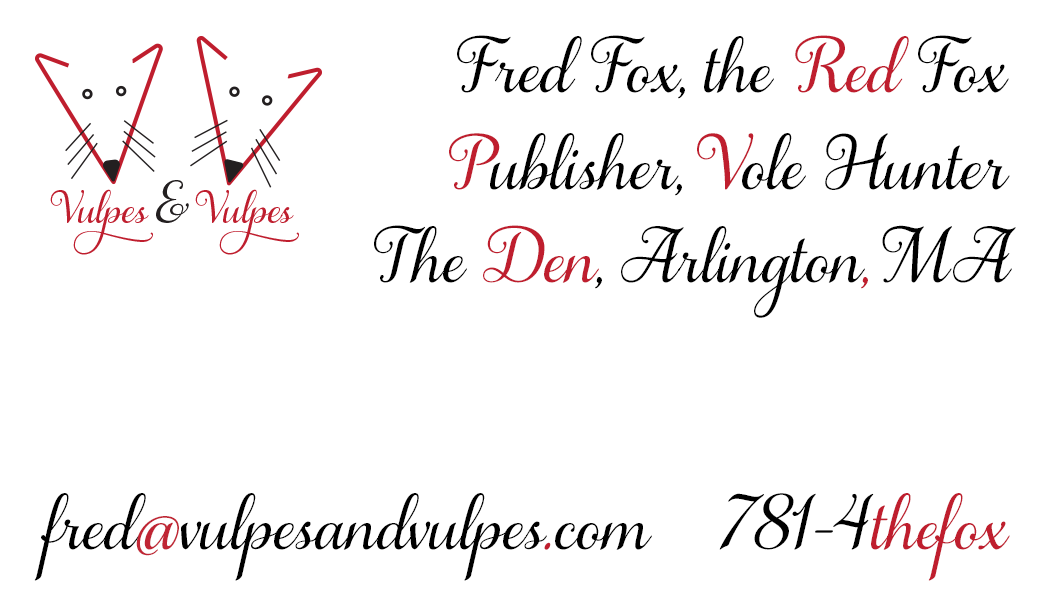 First version of Vulpes & Vulpes business card