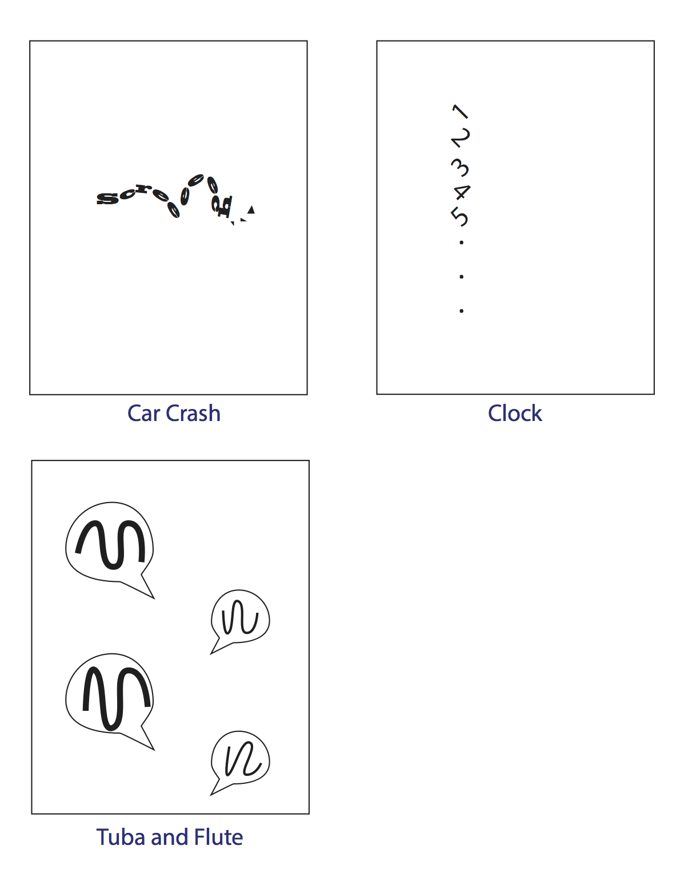 Illustrating three sounds