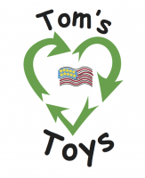 Tom's Toys Logo in two sizes